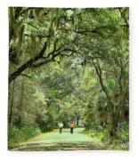 A Peaceful Walk Fleece Blanket