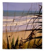 A Peek At The Shore Fleece Blanket