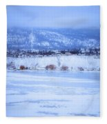 A Penticton Winter Fleece Blanket