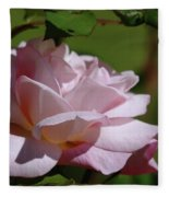 A Pink Rose  Fleece Blanket