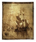 A Pirate Looks At Forty Schooner Wharf Fleece Blanket