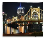 A Pittsburgh Panorama Fleece Blanket