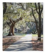 A Place For Contemplation  Fleece Blanket