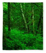 A Place In The Forest Fleece Blanket