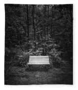 A Place To Sit Fleece Blanket