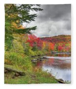 A Place To View Autumn Fleece Blanket