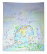A Planet Remembered Fleece Blanket