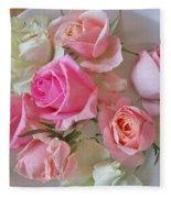 A Plate Of Roses Fleece Blanket