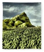 A Pointed Hilltop Fleece Blanket