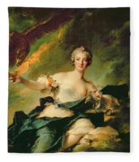 A Portrait Of Anne Josephe Bonnnier De La Mossau  Fleece Blanket