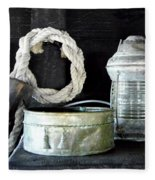 A Pulley And A Lamp Fleece Blanket