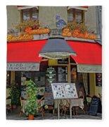 A Quaint Restaurant In Paris, France Fleece Blanket