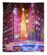 A Radio City Music Hall Christmas Fleece Blanket