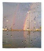 A Rainbow In My World #3 Fleece Blanket