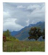 A Rainy Day In The Mountains Of Ecuador Fleece Blanket