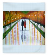 A Rainy Dayii Fleece Blanket