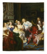 A Reading By Madame De Sevigne Fleece Blanket