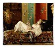 A Reclining Odalisque Fleece Blanket