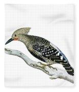 A Red Headed Woodpecker 2 Fleece Blanket