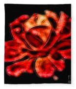 A Red Rose For You 2 Fleece Blanket