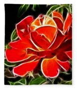 A Red Rose For You Fleece Blanket