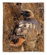 A Red Tailed Hawk  Fleece Blanket