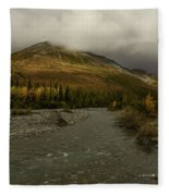 A River Runs Through The Brooks Range Alaska Fleece Blanket