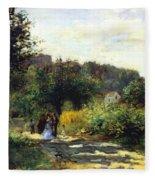 A Road In Louveciennes Fleece Blanket