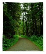 A Road Through The Forest Fleece Blanket