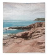 A Coastal Scene Fleece Blanket