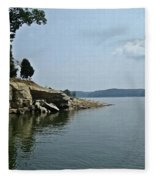 A Rocky Point - Monroe Lake Fleece Blanket