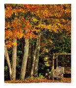 A Romantic Autumn Spot In Inlet Fleece Blanket