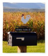 A Rooster Above A Mailbox 1 Fleece Blanket