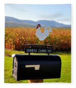 A Rooster Above A Mailbox 2 Fleece Blanket