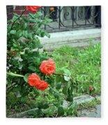 A Rose Is Down Fleece Blanket