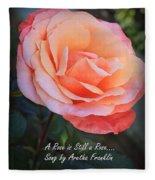 A Rose Is Still A Rose Fleece Blanket