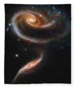 A Rose Made Of Galaxies Fleece Blanket