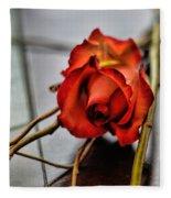 A Rose On Bamboo Fleece Blanket