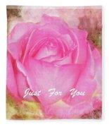 Enjoy A Rose Just For You Fleece Blanket