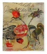 A Rose Story Fleece Blanket