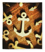 A Sailors Badge Fleece Blanket