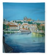 A Scene In Prague 3 Fleece Blanket