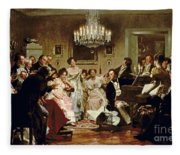 A Schubert Evening In A Vienna Salon Fleece Blanket