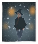 A Sea Witch's Blessed Yule Fleece Blanket
