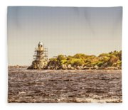 A Seashore Construction Fleece Blanket