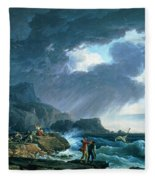 A Seastorm Fleece Blanket