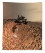 A Selfie On Mars Fleece Blanket