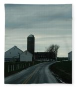 A Serene Evening Fleece Blanket