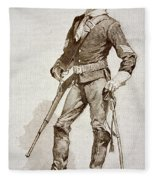 A Sergeant Of The Us Cavalry Fleece Blanket