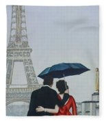 A Shower At The Trocadero Fleece Blanket